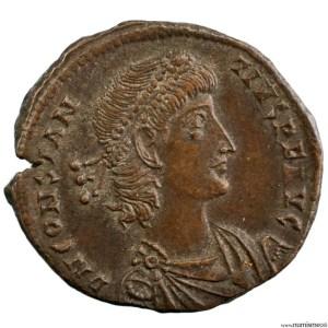 Constance II Moyen bronze frappé à Alexandrie