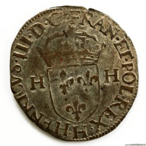 Henri III AR Douzain first type 1576 La Rochelle