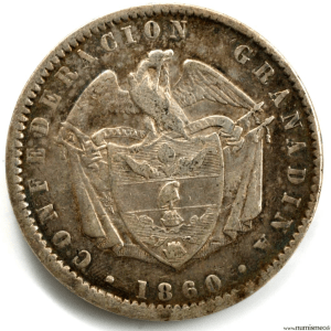 Colombie Peso 1860