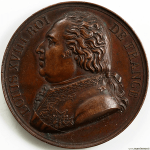 Louis XVIII médaille pour la confirmation de la charte de 1814