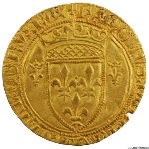 Charles VII écu d'or à la couronne frappé à Romans