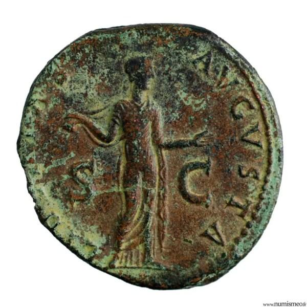 Claude Moyen bronze frappé à Rome