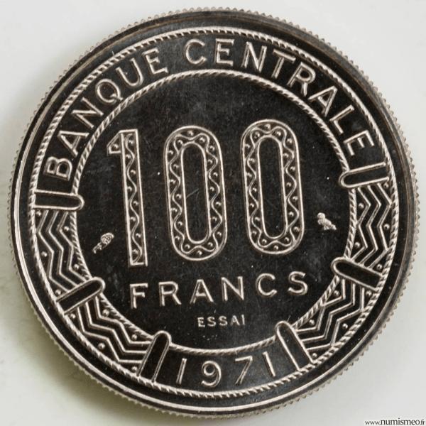 Congo 100 francs 1971 Essai