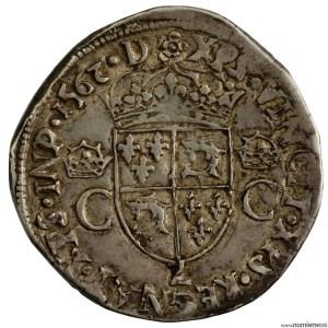 Charles IX teston du dauphiné 1562 Grenoble