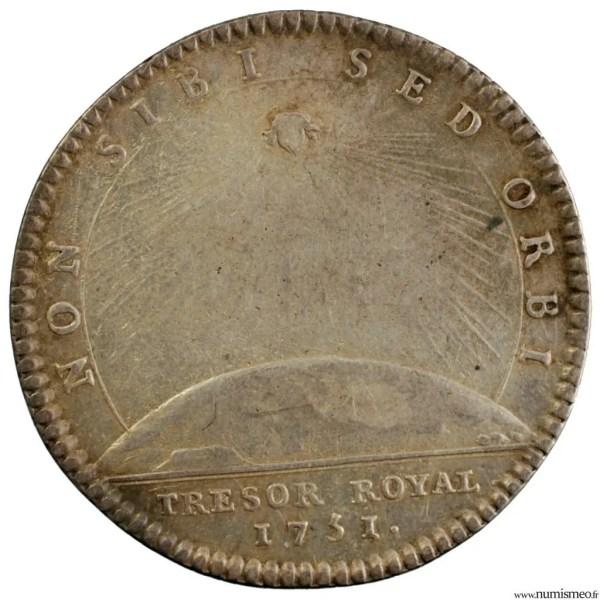 Louis XV jeton du trésor royal 1751