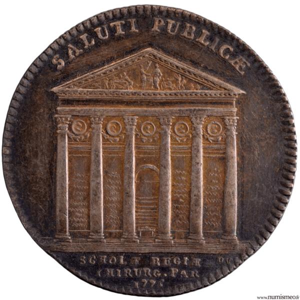 jeton de l'académie royale de Chirurgie 1775
