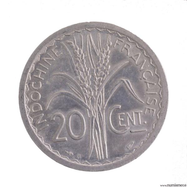 Indochine 20 cent 1945 B