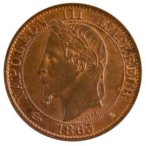 Napoleon III 5 centimes 1865 Paris