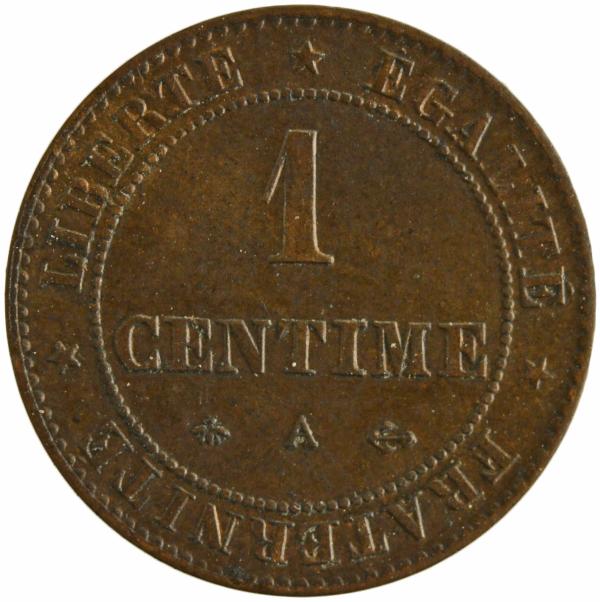 III Republique 1 centime 1875 paris