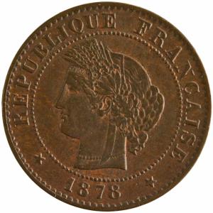 III République 1 centime 1878 Paris