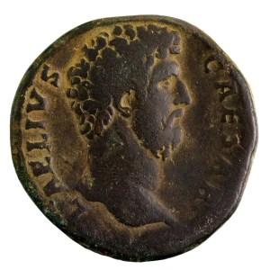 Aelius sesterce revers TR POT COS II