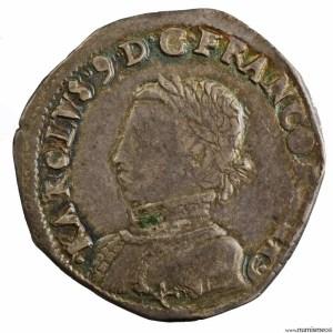 Charles IX 1/2 teston 3e type 1563 Bayonne