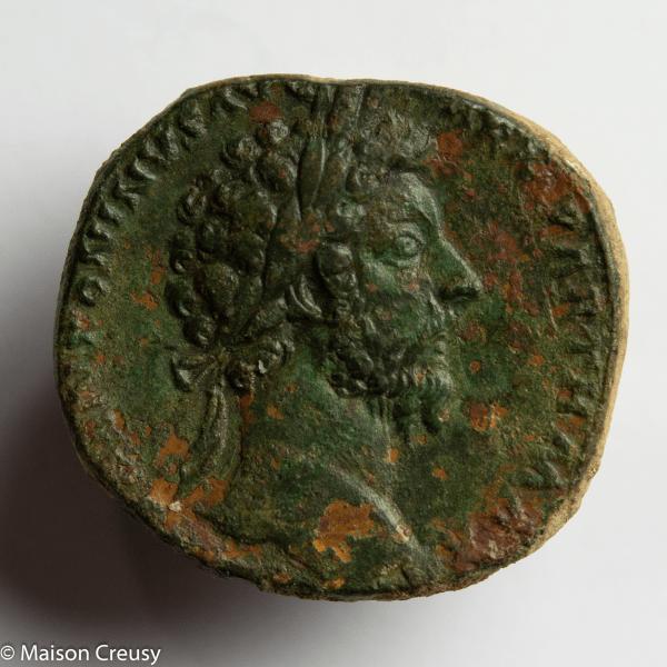 Marc Aurele Sesterce Rome 166
