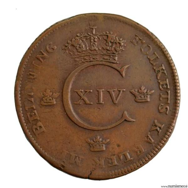 Suède 1 skilling 1819