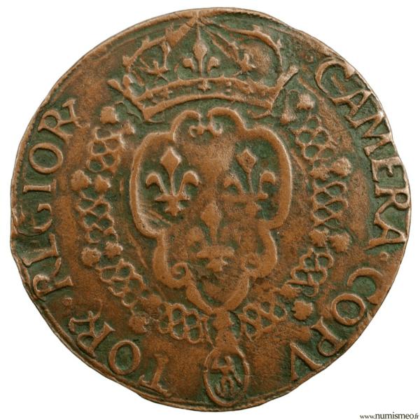 Charles IX jeton de la chambre des comptes du roi 1563