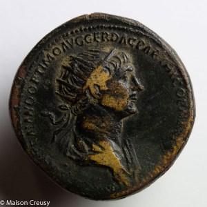 Trajan AE dupondius Rome 116-117 AD