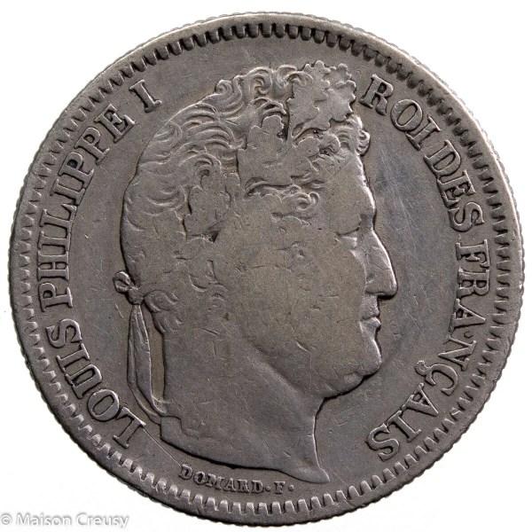 Louis Philippe AR 2 francs 1837 Rouen