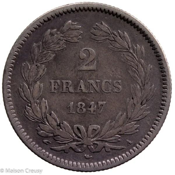Louis Philippe AR 2 francs 1847 Paris