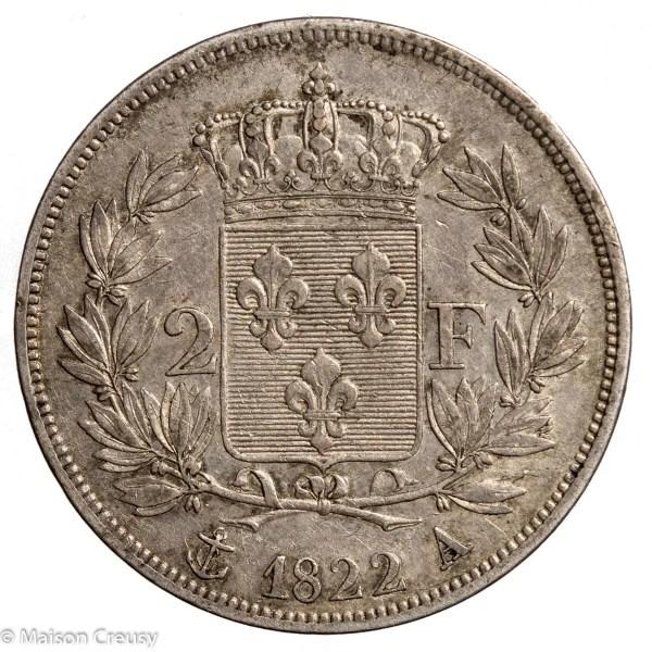 LouisXVIII-2francs1822A