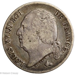 LouisXVIII-1francs1824W