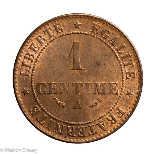 Third Republic 1 centime 1882 Paris