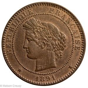 Third Republic 10 centimes 1891 Paris