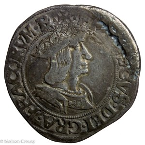 François I the Father and Restorer of Letters AR Teston du Dauphiné Romans mint