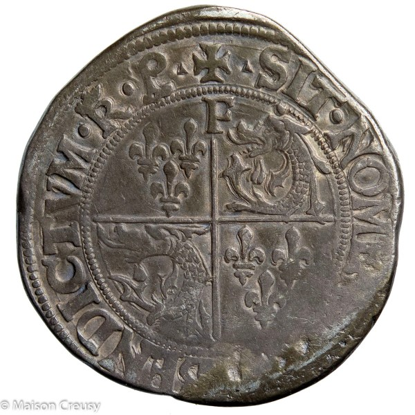 François I the Father and Restorer of Letters AR Teston du Dauphiné Romans mint