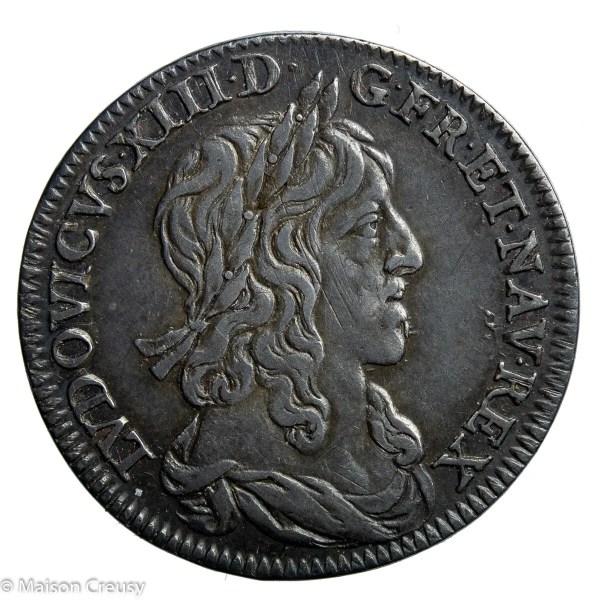LouisXIII-QuartEcu1642A