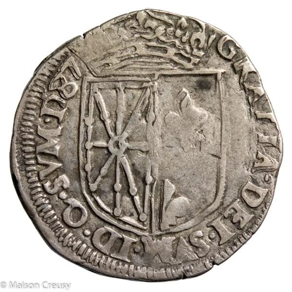 Navarre-HenriIIIQuartEcu1587