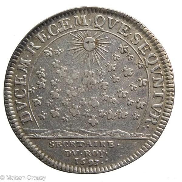 Louis XIV AR jeton 1693 secretaire du roi