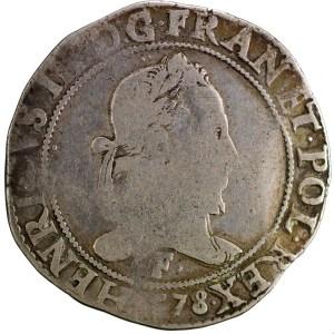 Henri II Franc 1578 Angers