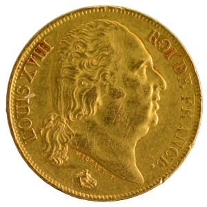 Louis XVIII 20 francs 1819 Perpignan