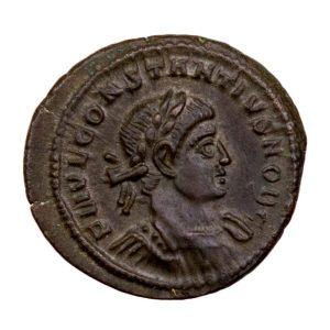 Constance II petit bronze frappé à Trêves