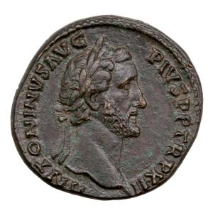 Antoninus Pius AE Sestertius Rome 148-149