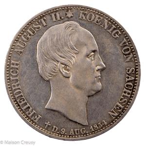 Saxe Frederic August II 2 thaler 1854