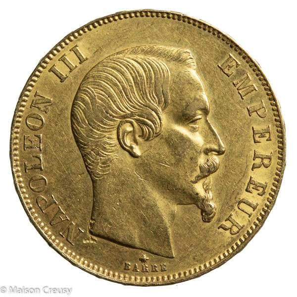 Nap III 50 francs 1858 BB