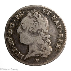 Louis XV 1/5 ecu vieille tete 1774 BB