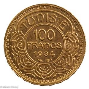 Tunisia 100 francs 1934