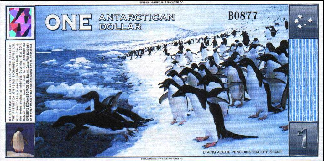 Soldi da collezione - valuta in Antartide