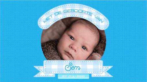 digitaal geboortekaartje jongen nummer10mama