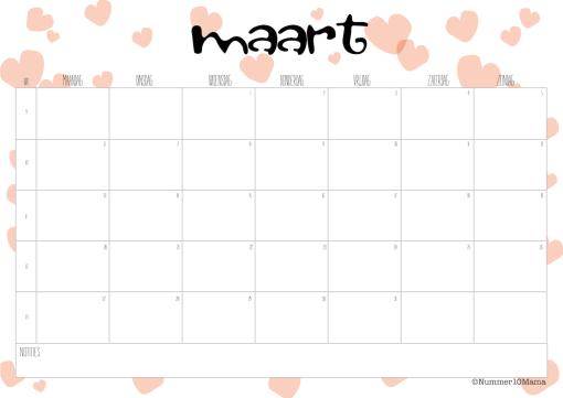 Kalender 2017 Maart