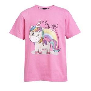 Bella lasten t-paita, Wahlsten Trendikäs yksisarvinen nyt lasten t-paidassa! Miellyttävä puuvilla materiaali kesäksi.