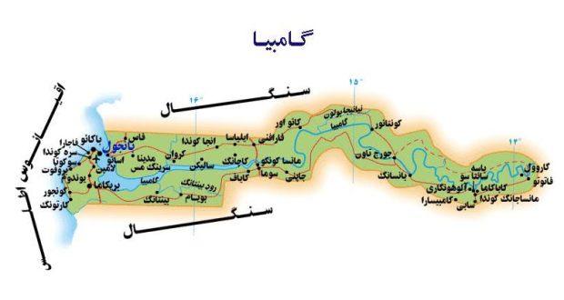 د ګامبیا نقشه