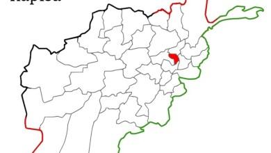 د افغانستان نقشه کې د کاپیسا موقعیت