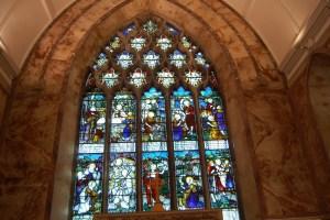 Nun's Cross church main stained glass window