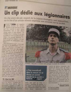 l'union reims journal local artiste légionnaires légion