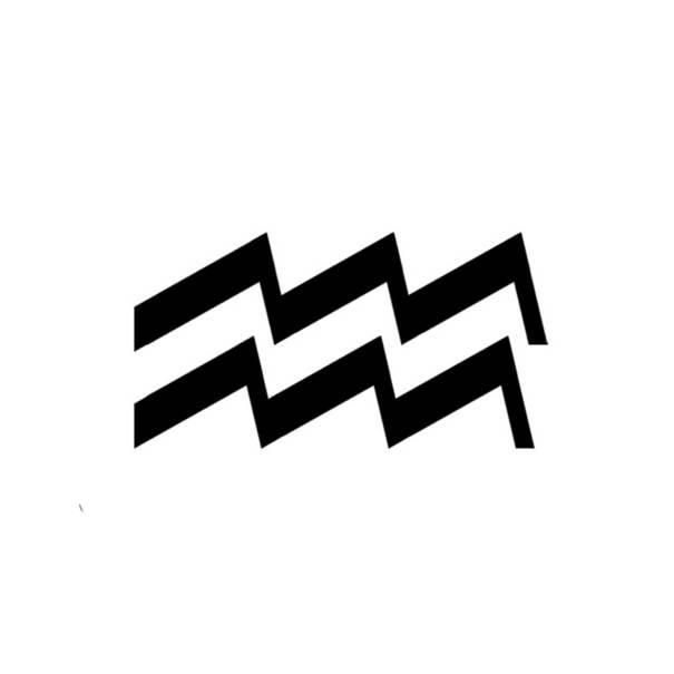astrologie ere verseau symbole noir et blanc