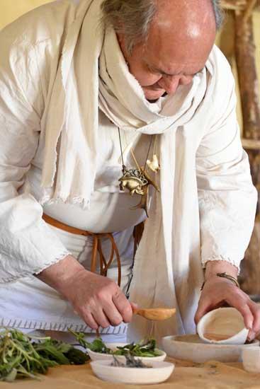 La potion magique préparer le Druide pour soigner un enfant.