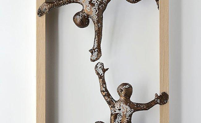 Metal Wall Art Nuntchi Wire Mesh Sculptures